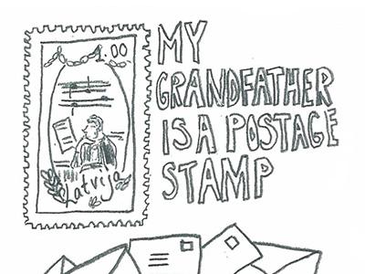"""""""Mio nonno è un francobollo postale"""", Laura Ķeniņš"""